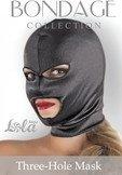 Шлем черный с прорезями для рта и глаз - Секс шоп Мир Оргазма