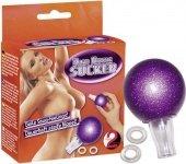 Помпа женская для сосков + 2 кольца для фиксации | Вакуумные помпы для вагины и клитора | Секс-шоп Мир Оргазма