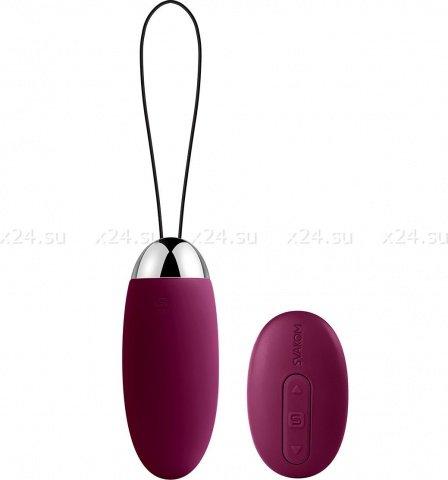 Elva Фиолетовый Вибростимулятор со встроенным аккумулятором