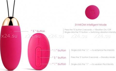 Elva Фиолетовый Вибростимулятор со встроенным аккумулятором, фото 4