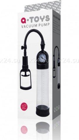 Вакуумная помпа мощная с манометром, 20 см, чёрная, фото 2