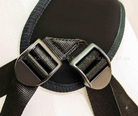 Страпон-трусики с вибратором и анальным стимулятором uni strap 8'' (12 режимов, вторая кожа) 20 см, фото 5