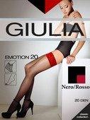 Чулки черные emotion с красным кружевом на силиконовой ленте 1/2 (20 den) - Секс-шоп Мир Оргазма