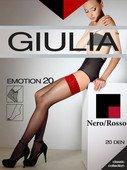 Чулки черные с красным кружевом на силиконовой ленте 3/4 20 - Секс-шоп Мир Оргазма