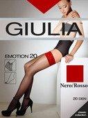 Чулки красные emotion с кружевом на силиконовой ленте 1/2 (20 den) - Секс-шоп Мир Оргазма
