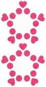 Пестисы открытые круги и сердца розовые 015 | Другие товары для груди | Секс-шоп Мир Оргазма