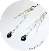 Украшение для груди с кристаллами Swarovski, черно-серебристое - Секс-шоп Мир Оргазма