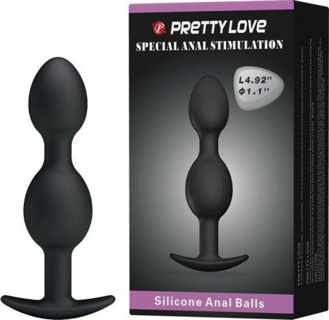 Анальная втулка для ношения со смещенным центром тяжести Silicone Anal Balls, фото 10