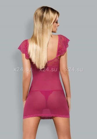 Розовая сорочка с кружевом Lillove Chemise, фото 2