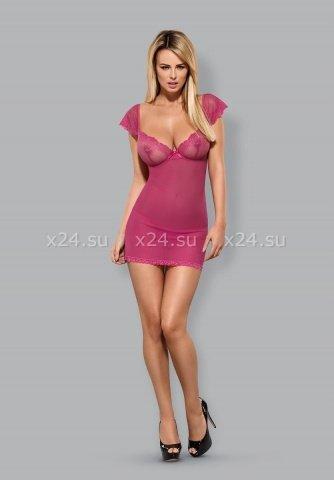 Розовая сорочка с кружевом Lillove Chemise, фото 3