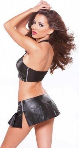 Mini pleated skirt black xl, фото 2