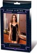 Платье черное с сеткой на боках и спине р-р xl dress dernier tango xl noir - Секс-шоп Мир Оргазма