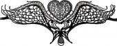Маска Swan Masquerade Black SH-OU127BLK - Секс-шоп Мир Оргазма