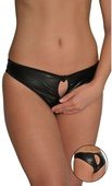 Кожаные контактные трусики с разрезами 44 - Секс-шоп Мир Оргазма