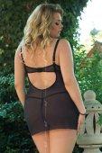 Ночная сорочка и стринги SoftLine Collection Laura, чёрные-XL - Секс-шоп Мир Оргазма