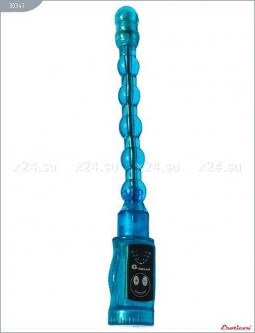 Вибратор гнущийся, 6 режимов, голубой, 22 х270 мм, фото 3