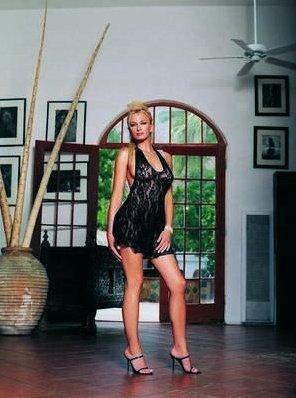 Мини-платье и стринги, цвет Черный