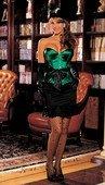 Изумрудный атласный корсет с бантом | Корсеты, грации | Интернет секс шоп Мир Оргазма