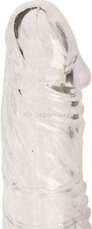 Насадка с клиторальным вибратором Glass slipper, фото 3