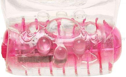 Насадка с клиторальным вибратором Glass slipper, фото 5