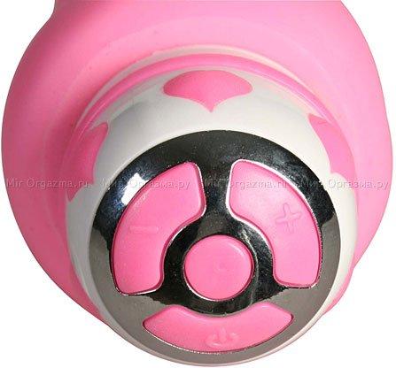 Вибратор со стимулятором клитора Hot Tickle 21 см, фото 5