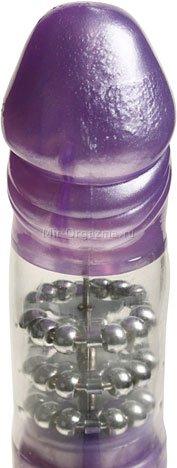Вибратор с шариками фиолетовый Thruster, фото 4