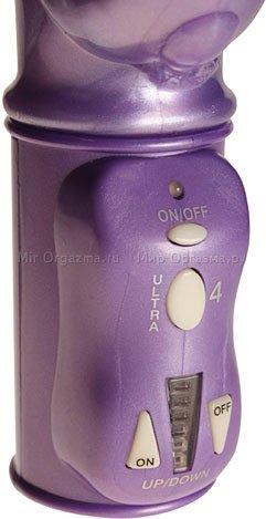 Вибратор с шариками фиолетовый Thruster, фото 6