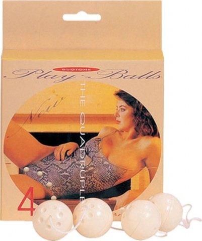 Вагинальные шарики четырехрядные d 3,5 см, фото 3