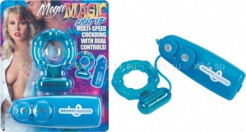 Эрекционное кольцо Mega Magic со светом и вибрацией, фото 3