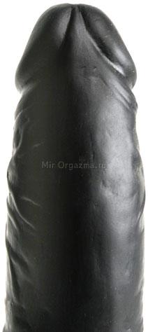 Вибратор черный Multi-Speed 20 см, фото 4