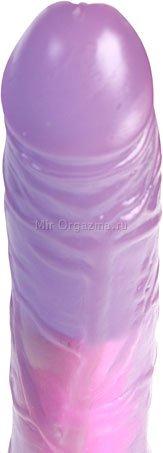 Вибратор фиолетовый 18 см, фото 3