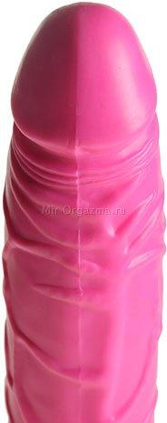 Вибратор водонепроницаемый 20 см, розовый, фото 3