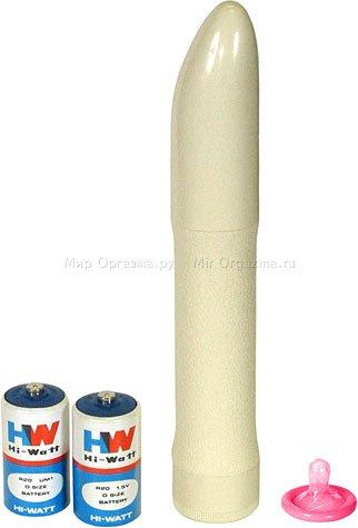 Вибратор белый 22 см