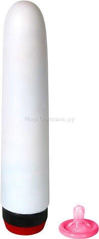 Вибратор гладкий 18 см, белый