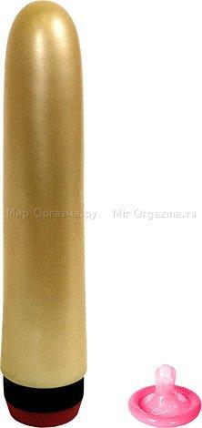 Вибратор желтый классический 17,5 см