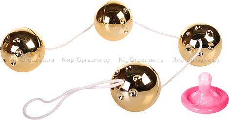 Шарики со смещенным центром тяжести золотистые Gold balls