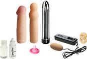 Фаллоимитатор с 2-мя съемными чехлами 18см - Секс-шоп Мир Оргазма