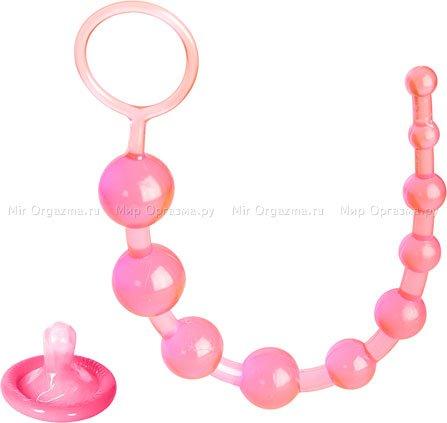 Анальные бусы Beads, розовый
