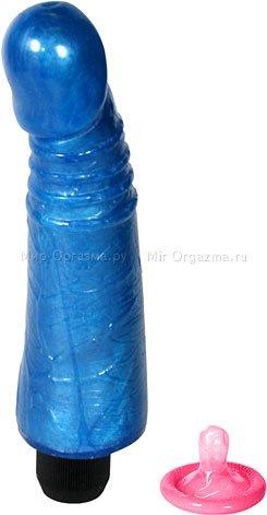 Вибратор синий 17,7 см
