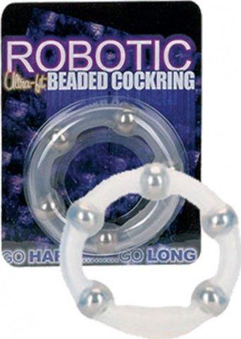 Эрекционное кольцо с шариками Robotic, фото 3