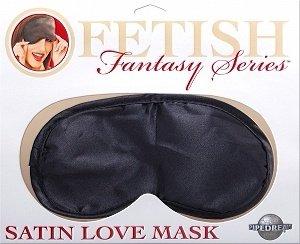 Черная маска на глаза Ff Satin Love Mask - Black, фото 3