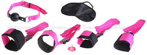 Набор: наручники, наножники, кляп, маска Pink Passion Bondage Kit