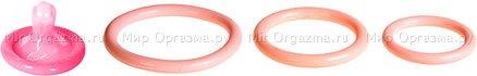 Набор эрекционных колец 3 шт Tri-rings Natural, фото 3