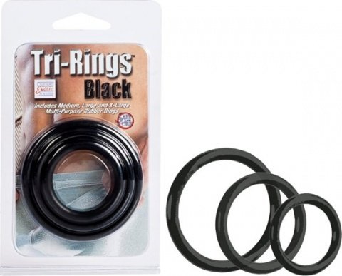 Эрекционные кольца Tri-ring Black, фото 3