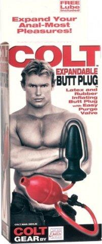 Анальная пробка с грушей Colt Expandable Butt Plug, фото 3