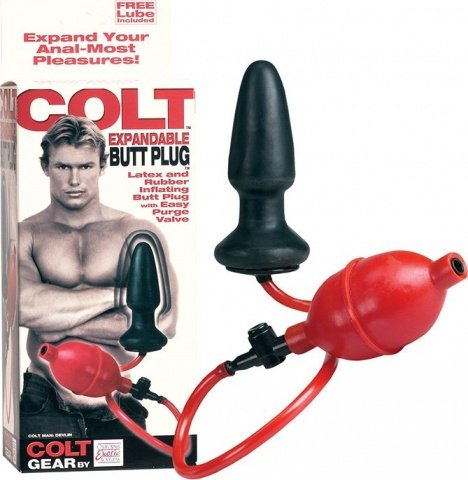 Анальная пробка с грушей Colt Expandable Butt Plug, фото 4