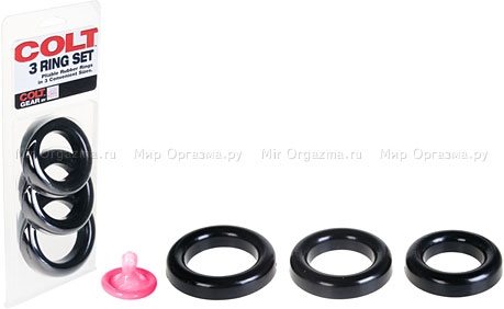 Гигантские силиконовые кольца Colt 3 Ring Set, фото 2