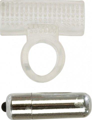 Эрекционное кольцо с вибрацией Basic Essentials Action Ring Vibr, фото 3