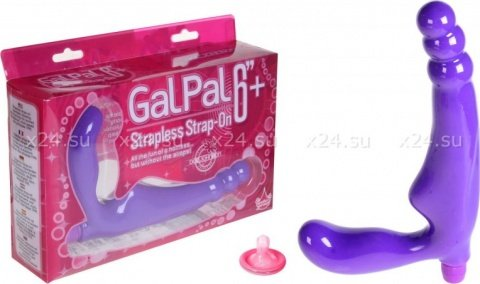 Безремневой страпон с вибрацией Gal Pal Strapless Strap-On 17 см, фото 3