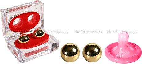 Металлические шарики Ben-wa gold, фото 2